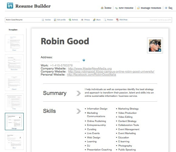 create a professional looking cv in seconds wit