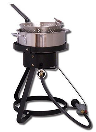 562535a8d King Kooker 1645 16-Inch Bolt Together Outdoor Propane Cooker Package with  Stainless Steel Fry