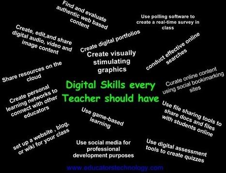 21st Century Digital Skills Graphic for Teachers ~ Educational ... | Web 2.0 Education Tools | Scoop.it