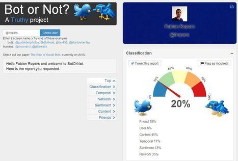 BotOrNot : savoir si un compte Twitter est un bot ou un humain | Tout savoir sur Twitter | Scoop.it