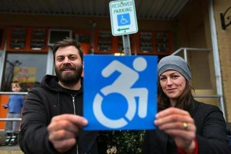 Disability icon revamped by guerilla art project - The Boston Globe | Chummaa...therinjuppome! | Scoop.it