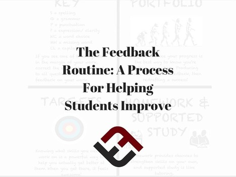 The Feedback Routine: A Process For Helping Students Improve - | TeachThought | Scoop.it