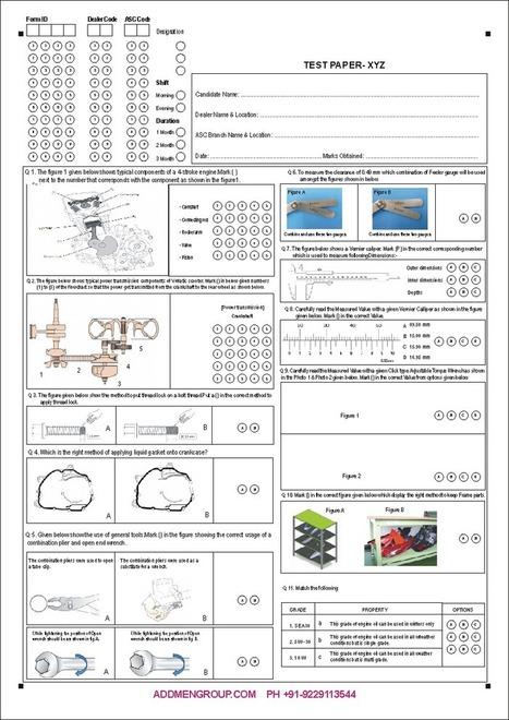 OMR Based Skill Assessment Forms