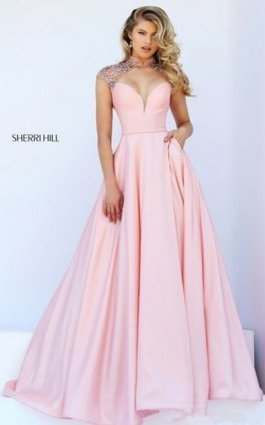 29f5174173d Cheap Pink Sherri Hill 50004 Beads Sexy Prom Dress Sale  Sherri Hill 50004   -  218.00   Unique Cheap Prom Dresses 2016