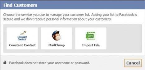 Facebook Teste «Trouver des clients» pour l'Import de Listes E-mail | Médias sociaux et tout ça | Scoop.it