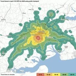 Une ville regardée depuis les temps de transports [dataviz] | Journalisme graphique | Scoop.it