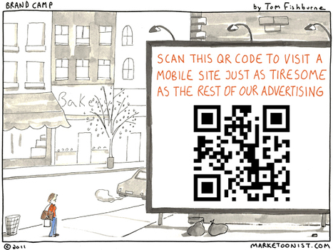 Humour : advertising with QR codes | QRdressCode | Scoop.it