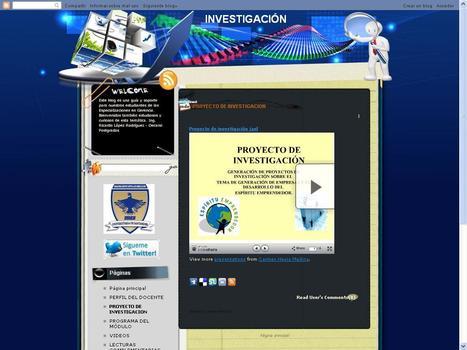 """SEMINARIO DE INVESTIGACIÓN""(Blog) - POSTGRADO UDES CÚCUTA 