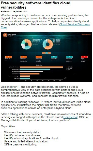 Free security software identifies cloud vulnerabilities | ICT Security Tools | Scoop.it