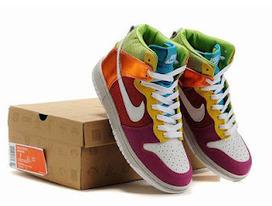 super popular c3f96 eea83 Rainbow Nike Shoes Nike Dunk High 6.0 Premium Women Metallic Rainbow Red  Pink Gold 317814 11