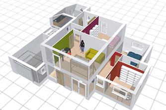 plan maison 3d logiciel gratuit pour dessiner. Black Bedroom Furniture Sets. Home Design Ideas