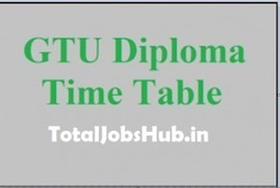 GTU Diploma Time Table 2019 Even sem 2nd 4th 6t