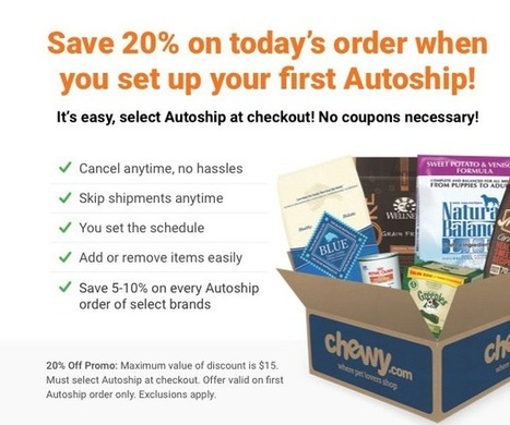 $15 Off Chewy Com Coupons, Promo Code & Fir