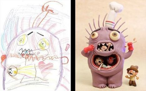 Multimedia Artists Bring Kids' Wacky Monster Drawings To Life   WOW Factor   Scoop.it