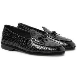 0f34fa8c53c This Is Croc Is No Crock  Rubinacci Marphy Croc-Effect Leather Loafers