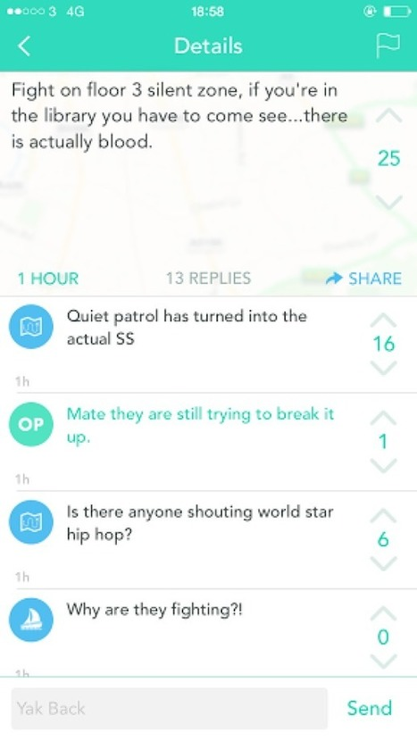 LIBRARY FIGHT: The YikYak rumour which rocked campus to its very core | Digital Literacy - Education | Scoop.it