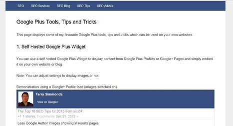 Google Plus Tips, Tricks and Tools | Kevin I Mills | Scoop.it