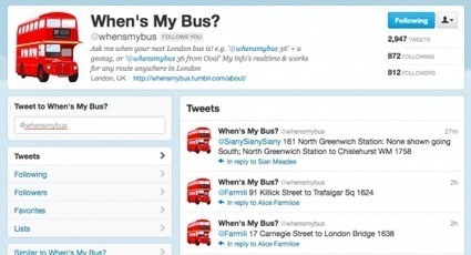 When's My Bus twitter bot isawesome!   Twitter Bots   Scoop.it