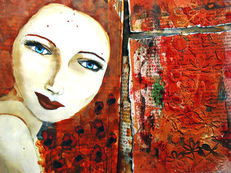 Lost in texture – Art journal page | Gulfsprite | Journal For You! | Scoop.it