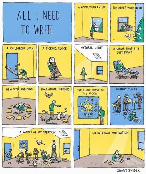 Comic for the aspiring writer [comic] | Entrepreneurship, Innovation | Scoop.it