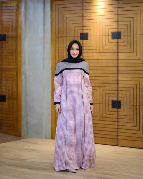 71 Model Baju Batik Kombinasi Polos Brokat 201