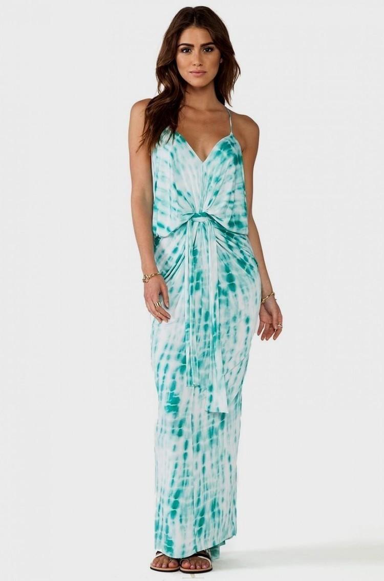 Blue Print Maxi Tee Dress | contact phone | Sc