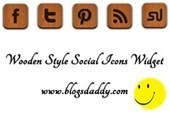 Add Wooden Style Social Icons Widget To Blogger Blog - Blogs Daddy | Blogger Tricks, Blog Templates, Widgets | Scoop.it