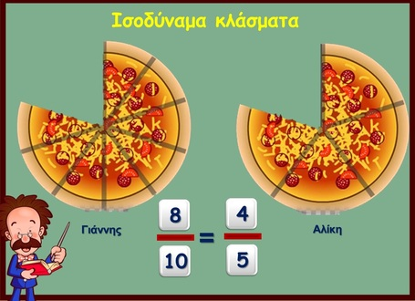 Ισοδύναμα κλάσματα | Μαθηματικά Ε΄ Τάξης Δημοτικού | Scoop.it