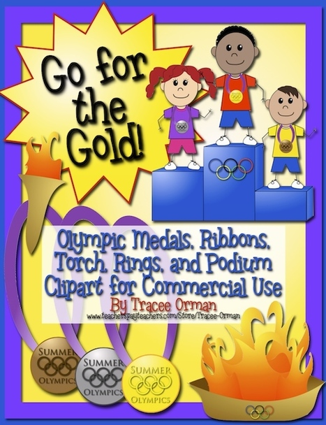 Olympics Clip Art Graphics: Medals, Ribbons, Torch, Rings, & More - Tracee Orman - TeachersPayTeachers.com | Clip Art for Commercial Use | Scoop.it