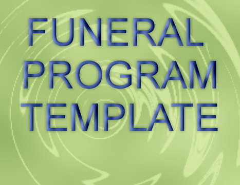 Editable Free Funeral Program Template in MS Wo...