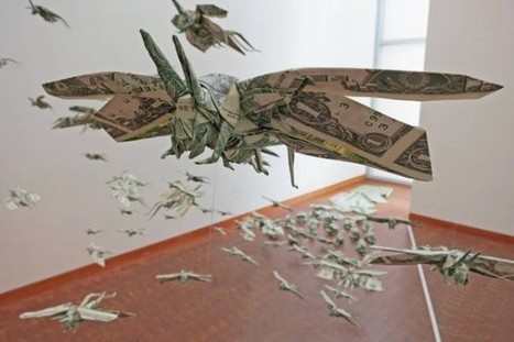 'Moneygami' by Sipho Mabona | Art Installations, Sculpture, Contemporary Art | Scoop.it