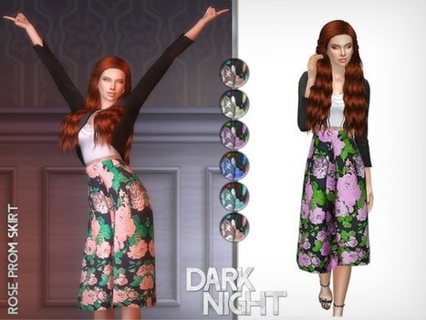 2a25d4741c The Sims Resource  Rose Prom Skirt by DarkNighTt