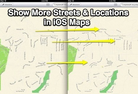Improve iOS Maps with a Simple Settings Change to See More Locations & Streets | iPads, MakerEd and More  in Education | Scoop.it