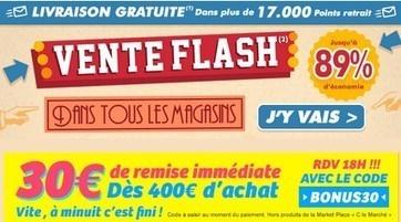 Super Bon Plan code promo Cdiscount 30 euros pour 400 euros f591c8c471c0