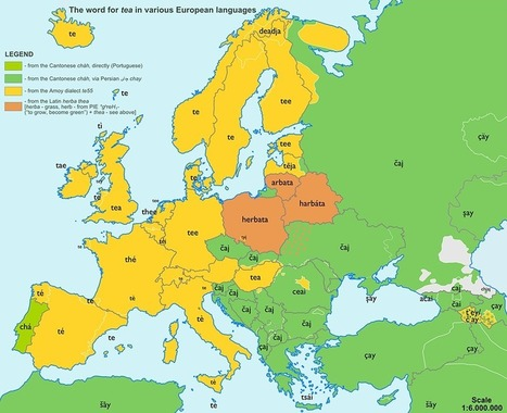 Pain in the ananas: etymology maps | Archivance - Miscellanées | Scoop.it