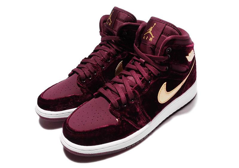 timeless design b09be 96aa8 Air Jordan 1 Heiress Velvet  Sneakers for wome.