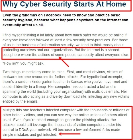Why Cyber Security Starts At Home | Educational Leadership and Technology | Scoop.it