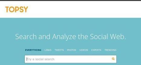 6 excelentes motores de búsqueda de tweets en Twitter | Social Network Analysis | Scoop.it