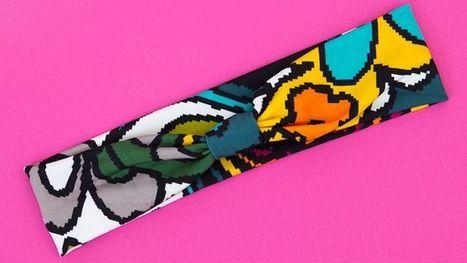 Transform Scrap Fabric into a Stretchy, DIY Workout Headband | Bazaar | Scoop.it
