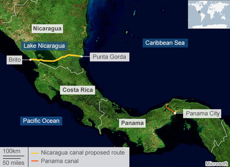 Nicaragua unveils major canal route | geography | Scoop.it