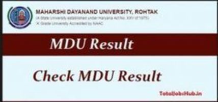 MDU Rohtak Result 2019 Maharshi Dayanand Univer