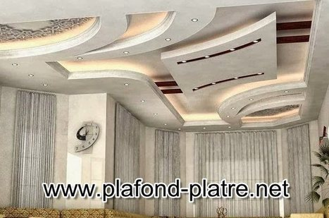 Faux plafond plâtre style marocain tradit...