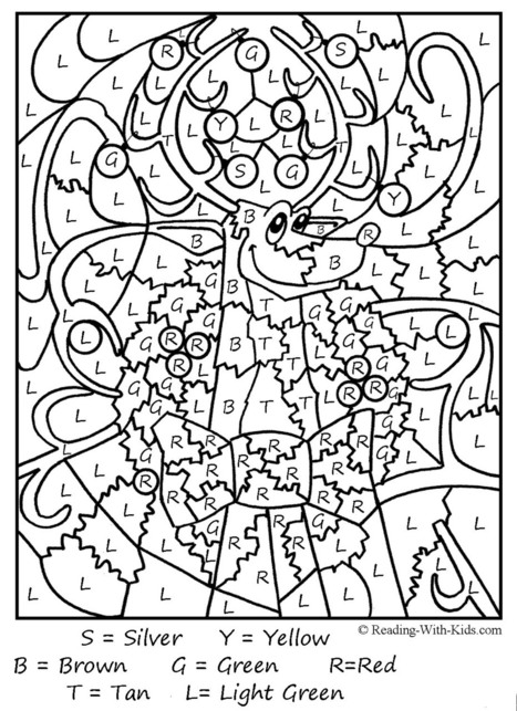 color by number coloring pages teaching elementary school efl scoopit - Elementary Coloring Sheets