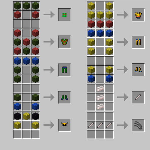 Superheroes Unlimited   Crafting Recipes