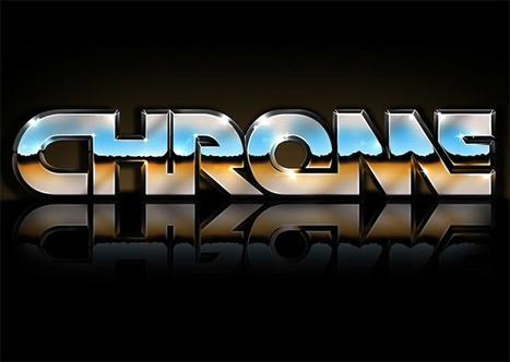 Retro 80's Inspired Reflective Chrome Text Effect in Photoshop   Photoshop Text Effects Journal   Scoop.it