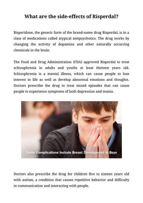 What are the side effects of Risperdal | Risper