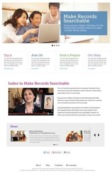 Un nuovo sito per l'indicizzazione di FamilySearch | Genealogia | Scoop.it