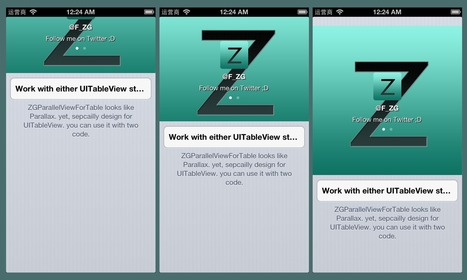 Parallel View on UITableViewController - Zhigang's Blog | iOS & macOS development | Scoop.it