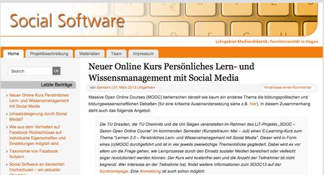 - Social Software | #iddg13 - MOOC - Interdisziplinärer Diskurs zur digitalen Gesellschaft | Scoop.it