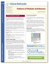 Patterns of Modular Architecture Cheat Sheet from DZone Refcardz - Free, professional tutorial guides for developers | Software Architecture | Scoop.it